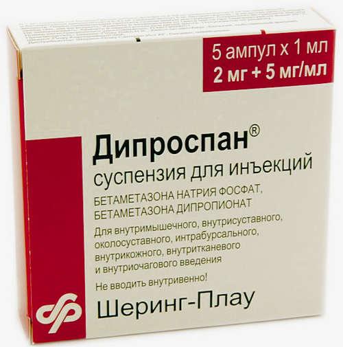 аллергия на дипроспан как проявляется
