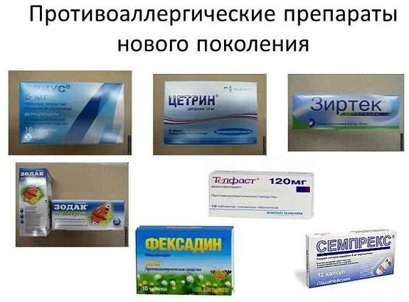 антигистаминные препараты третьего поколения